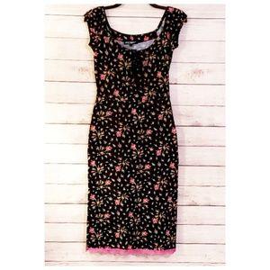 Vintage Style Betsey Johnson Dress, Lace Up Bust